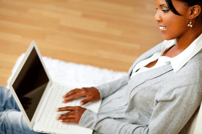 Woman tailoring CV